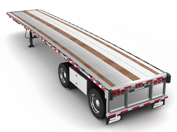 3D model flatbed trailer benson