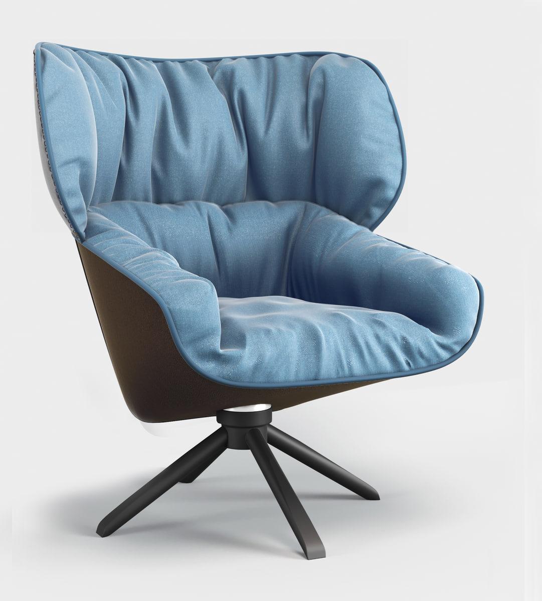 b italia tabano chair 3D