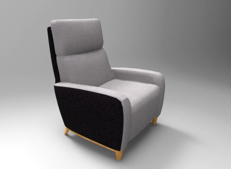 3D single seat sofa