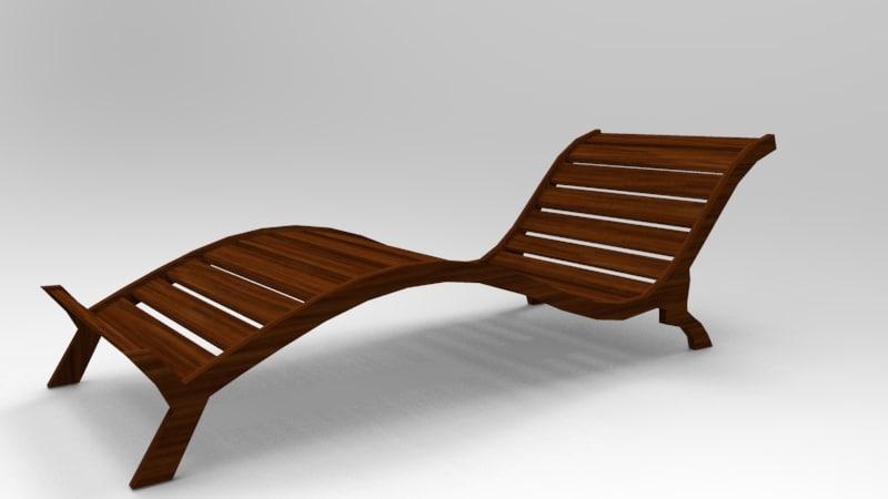 pool lounge 3D model