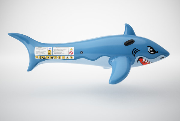 inflatable shark 3D model