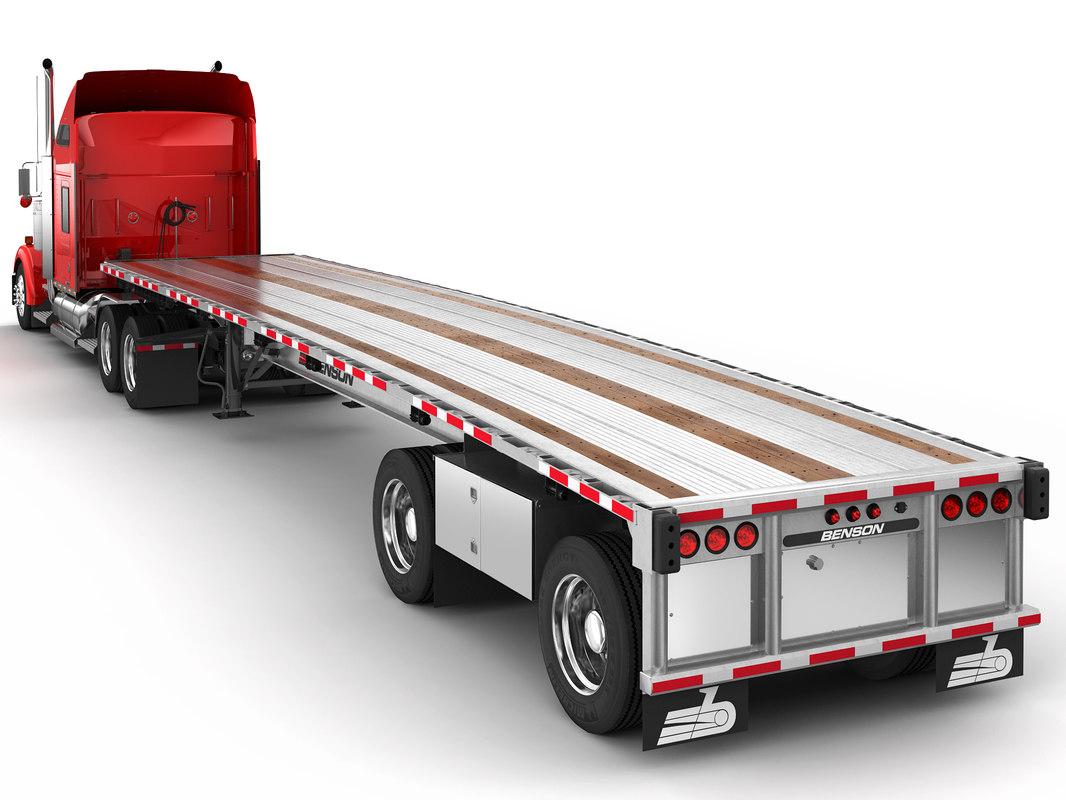 w900 trailer benson 3D model
