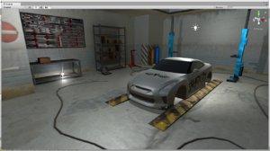 garage building unity 3D model