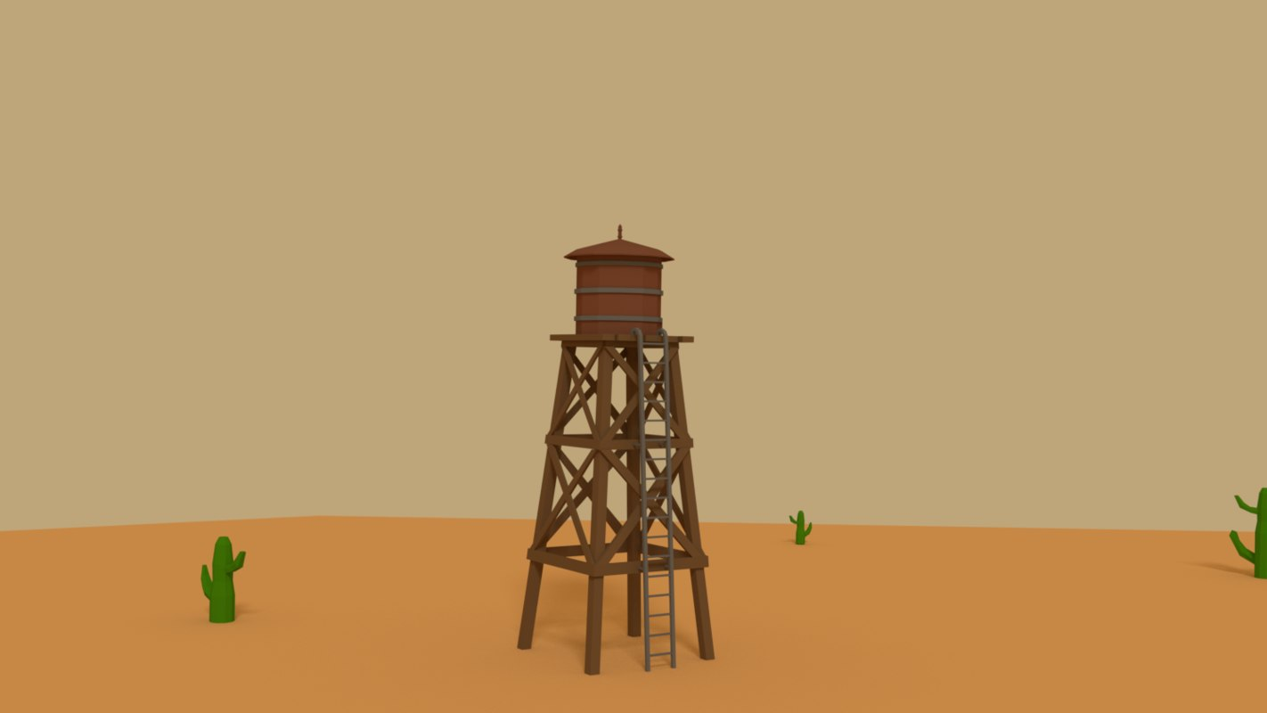 3D western tower