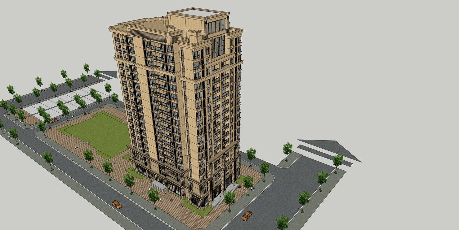 3D apartment house