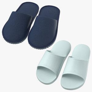3D model house slippers