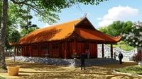 3D pagoda asia model