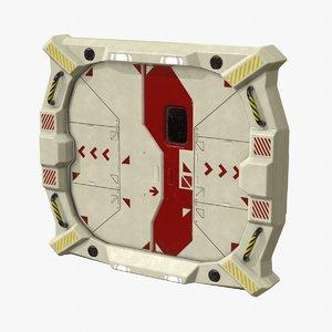sci-fi bulkhead door 3D model