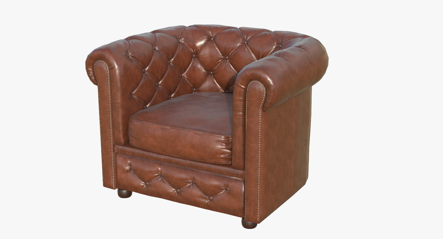 chesterfield armchair 3D model