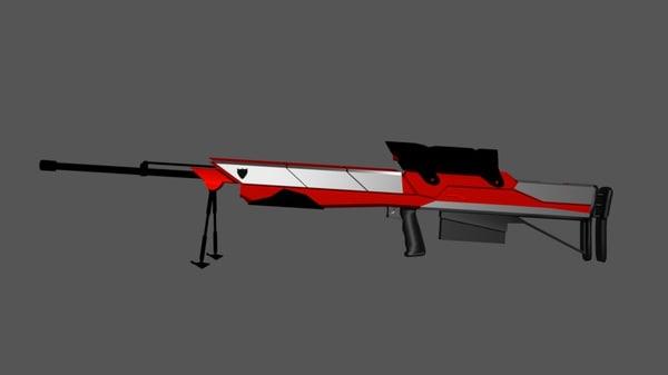 ar-10 sniper rifle 3D model