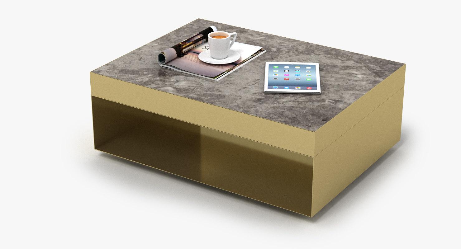 elliott rectangular table 3D model