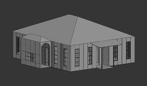 building untextured house 3D model