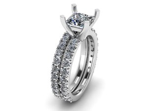 wedding ring matching 3D model