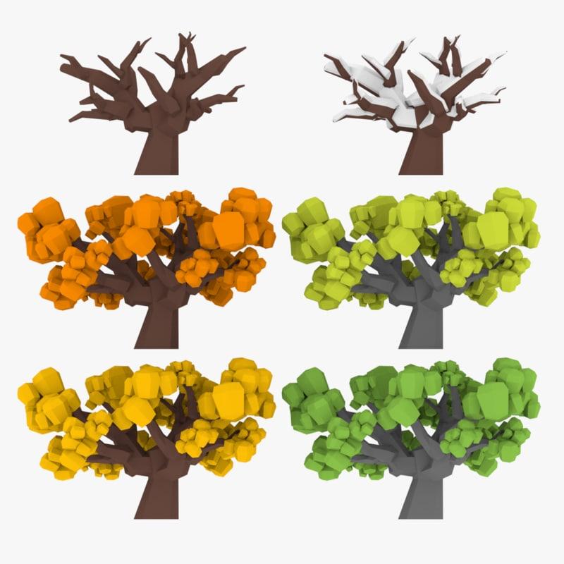 gameready trees model