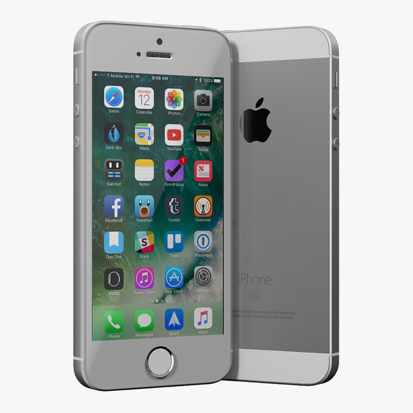 iphone se silver 3D