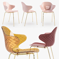 3D calligaris saint tropez chair model