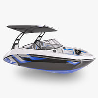 3D speed motor boat yamaha model