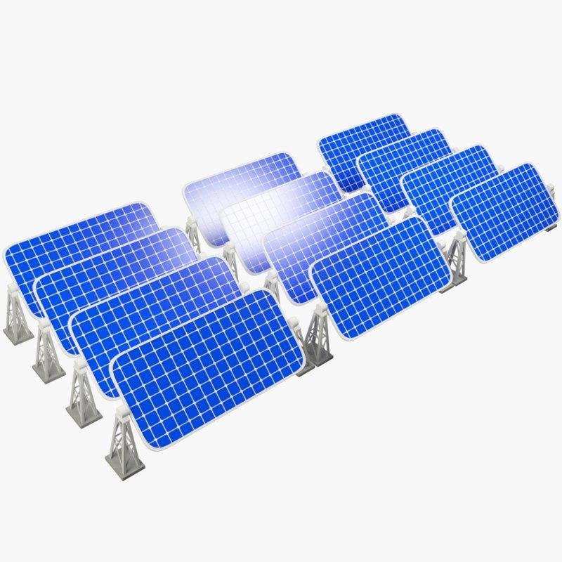 3D sun battery field