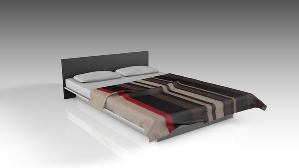 simple bed 3D