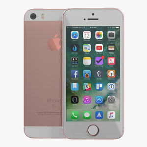 iphone se rose gold 3D model