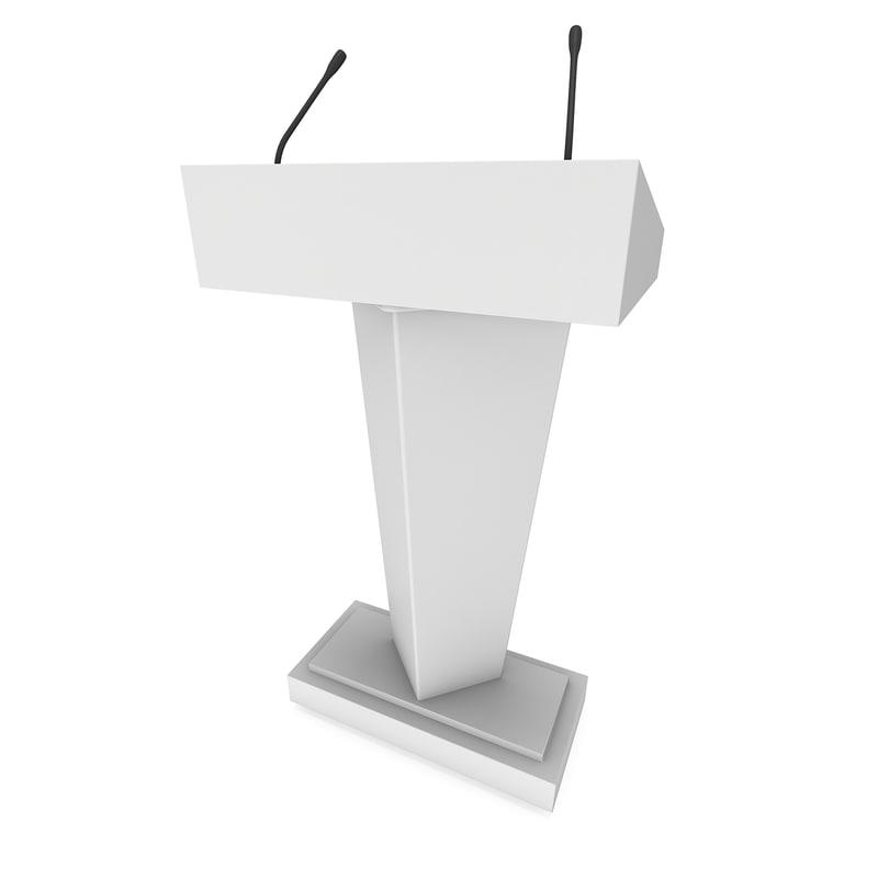 3D speaker podium model