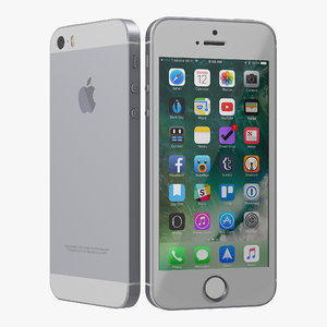 3D iphone se gray