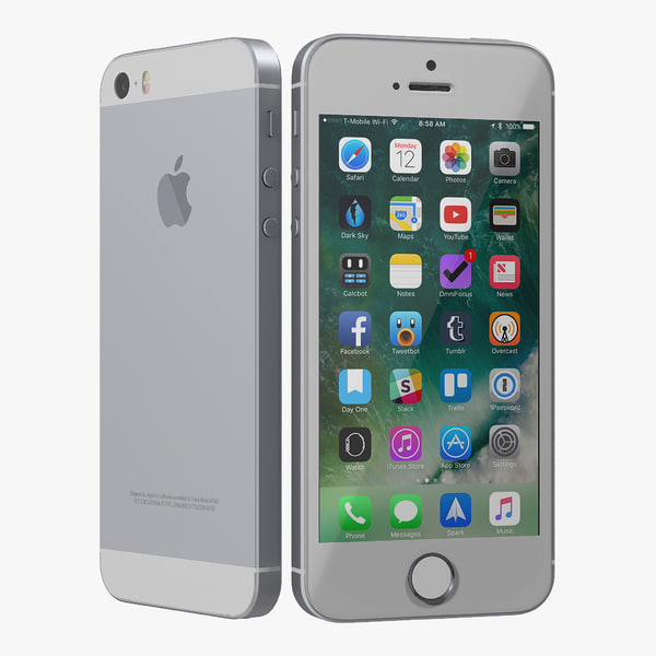 3D iphone se gray