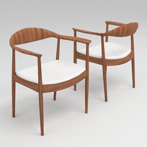 arm chair hans 3D model