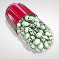 skulls pill 3D