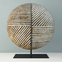 3D songye congo wood shield model