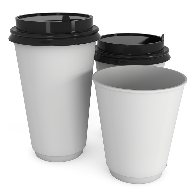 Disposable coffee cups  Blank paper mug
