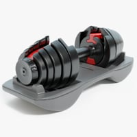 3D adjustable dumbbells