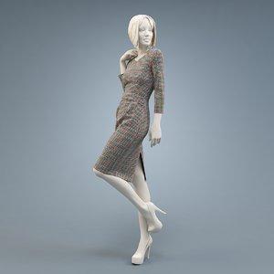 dress burda 3D model