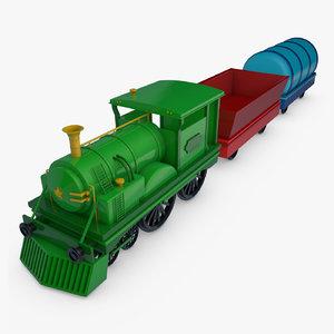 toy train set 3D model
