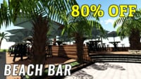 Beach Coffee Bar 3D Model