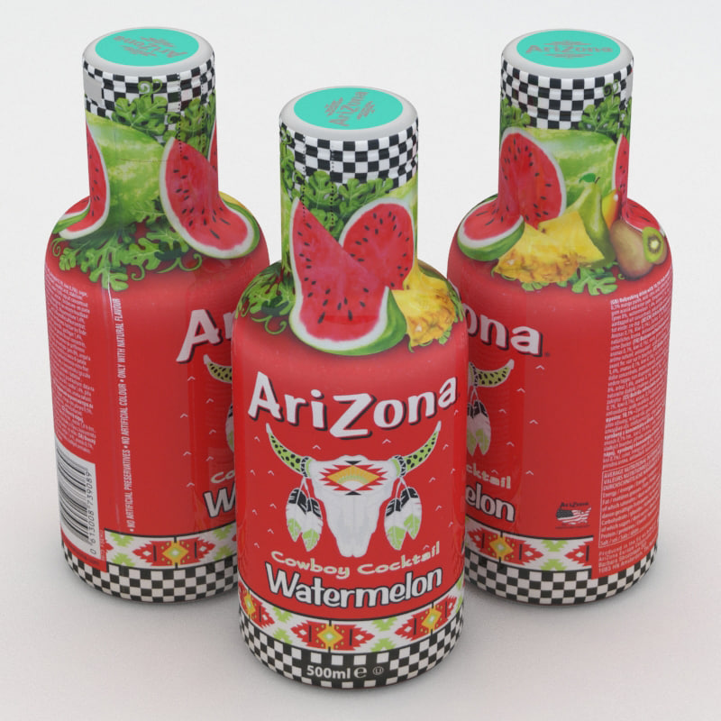 3D arizona beverage bottle model