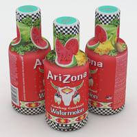 3D arizona beverage bottle model