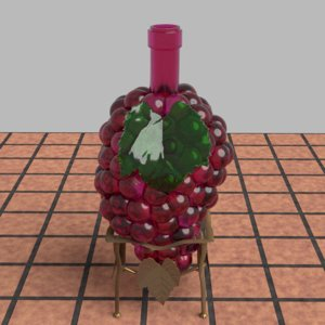 3D bottle grapes