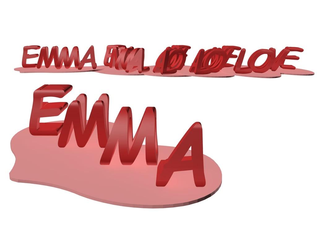 word emma 3D
