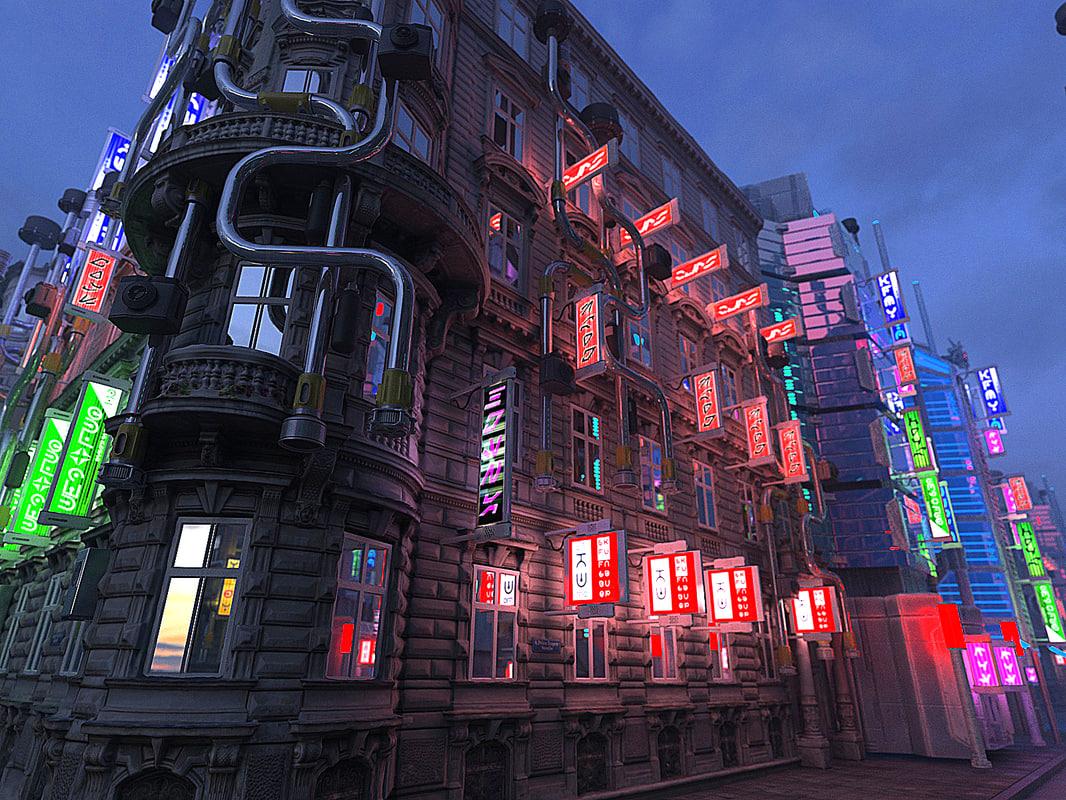 3D futuristic barock city hd