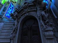 3D futuristic city hd model