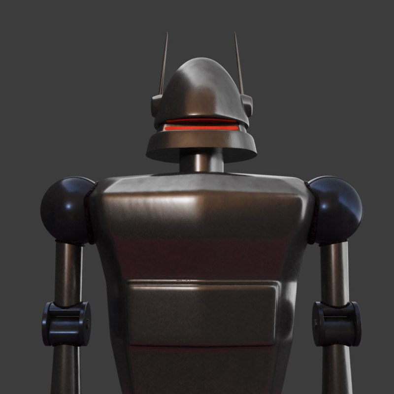 old movie robot model