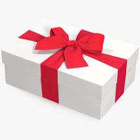 3D model gift box white 4
