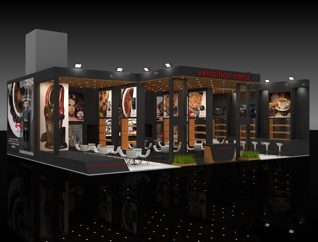 3d Exhibition Model : Exhibition stand d model turbosquid