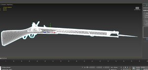 anglish musket hi 3D model