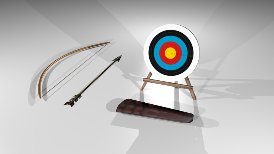 Archery pack - bow, target, arrow and quiver