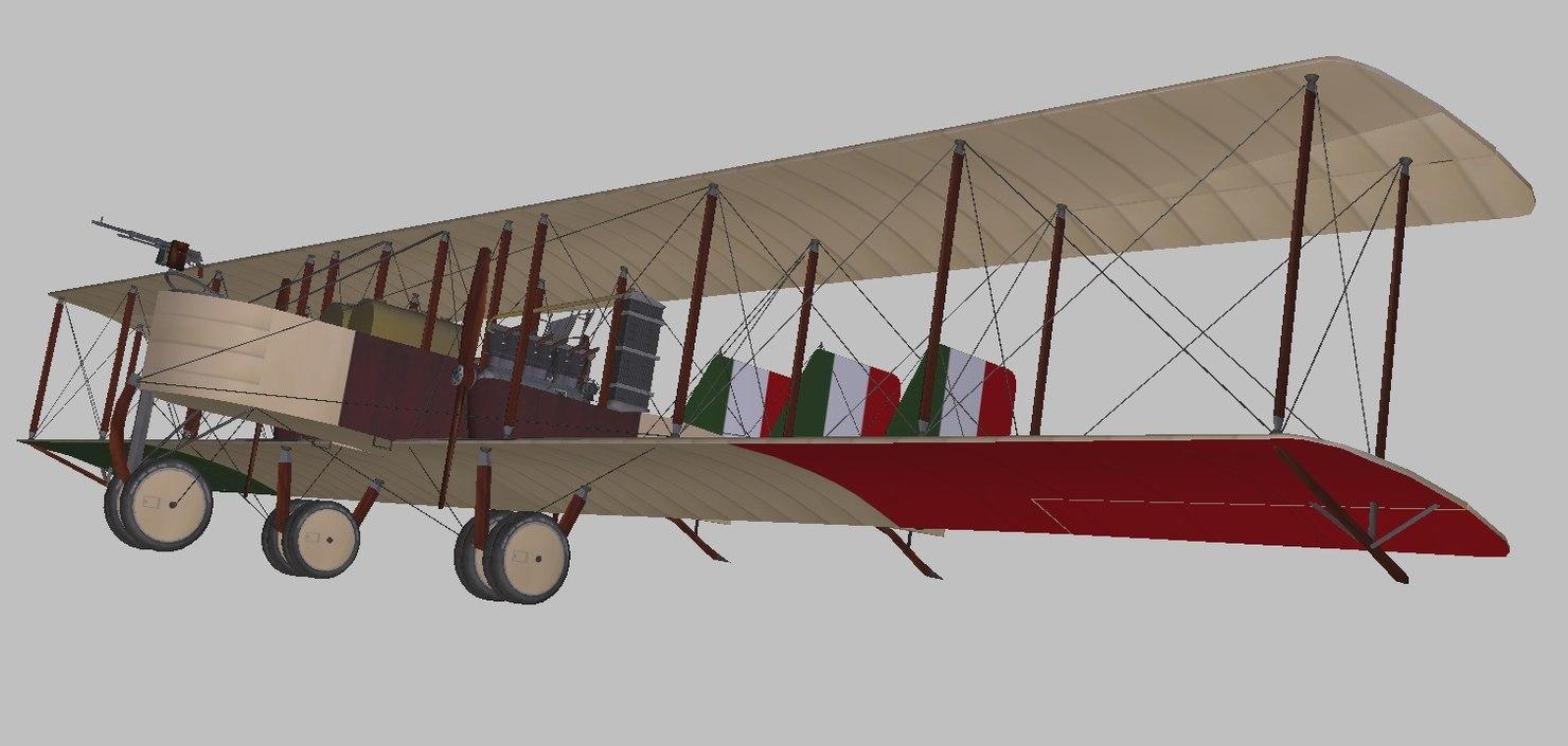 3D caproni bomber model