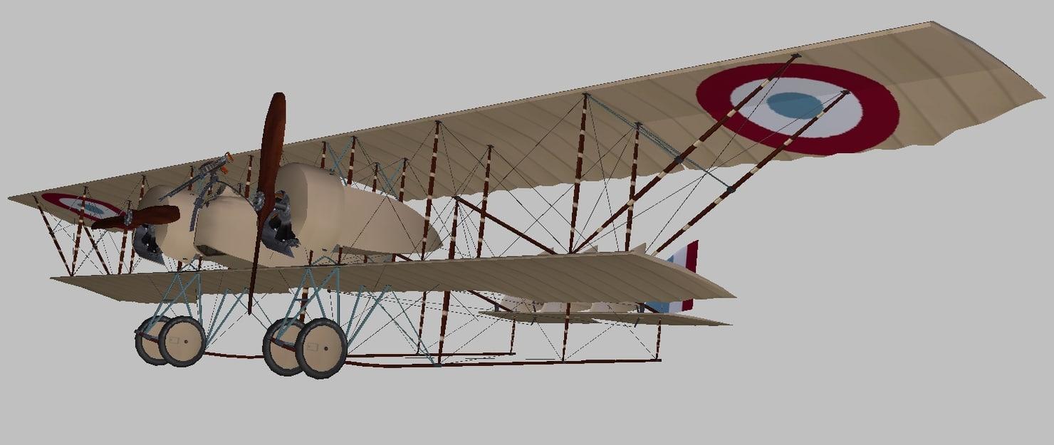 caudron world war 3D model