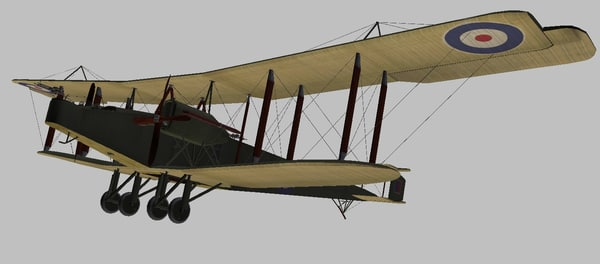 3D model handley page o 400