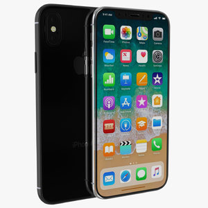 x phone 3D model